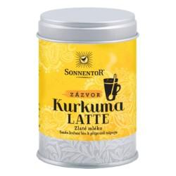 Sonnentor Kurkuma Latte zázvor bio 60 g dóza