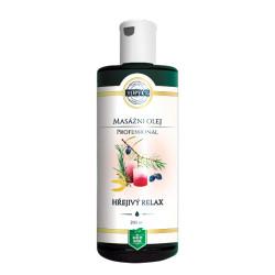 Topvet Hřejivý relax - masážní olej 200 ml