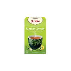 Yogi Tea BIO Zelený čaj Matcha Lemon 17 x 2 g